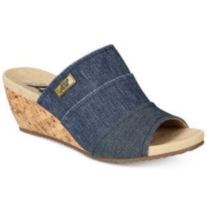 Anne Klein Sport Chanay Slip On Sandals Denim 10